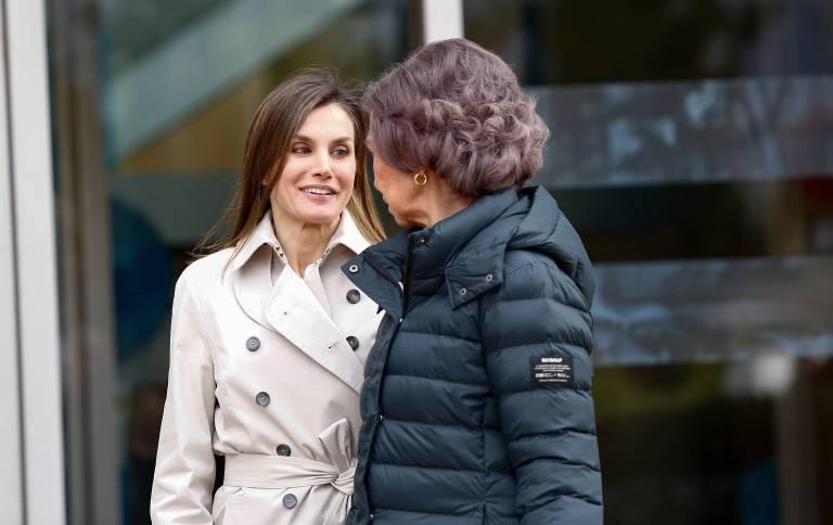 Gut aufgelegt lächelten Königin Letizia und Sofia für die Kameras.    Foto:imago/CordonPress