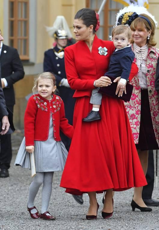 Auch Kronprinzessin Victoria sorgt sich, um Estelle und Oscar krank sein könnten.  ©imago/IBL