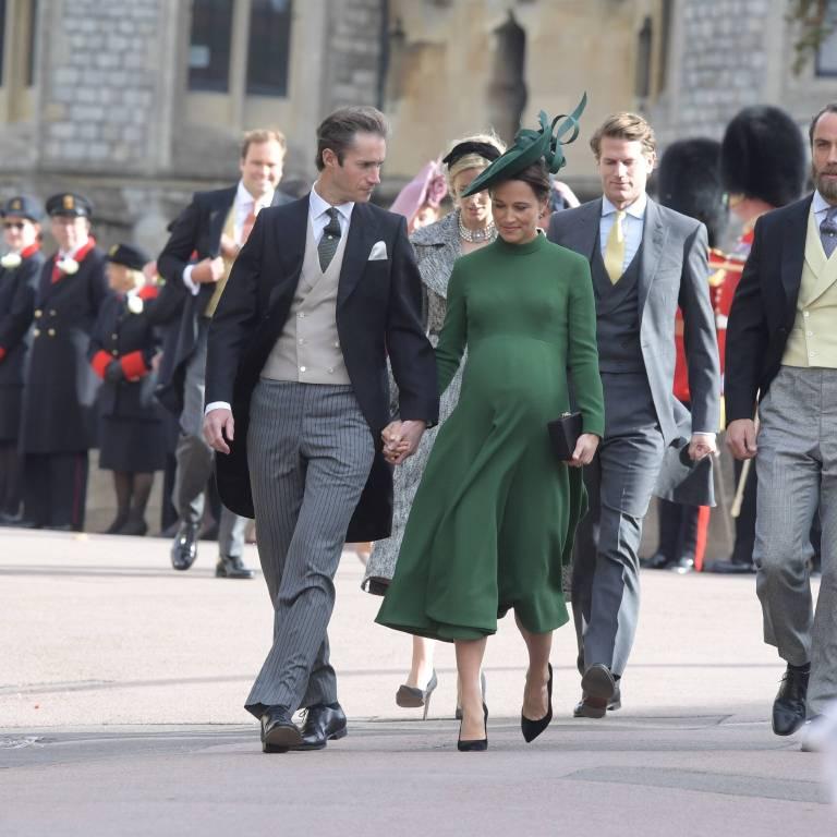Pippa, die Schwester von Herzogin Kate und ihr Mann James Matthews.  ©imago
