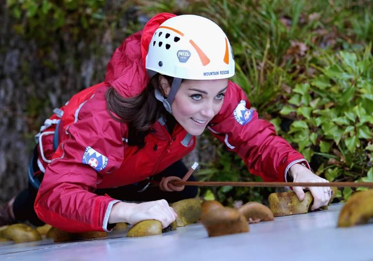 Sportskanone Kate beim Klettern im Jahr 2015.  ©imago/Starface