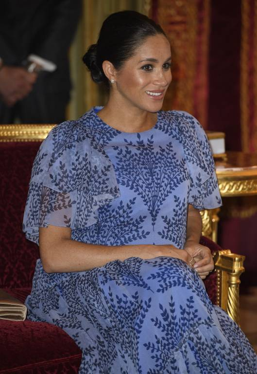 Liebesbotschaft an Harry: Dieselben Ohrringe trug Herzogin Meghan auch bei ihrer Hochzeit.  ©imago