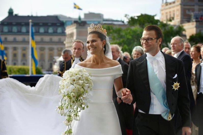 Kronprinzessin Victoria heiratete Daniel Westling am 19. Juni 2010. © Alexis Daflos/Royal Court