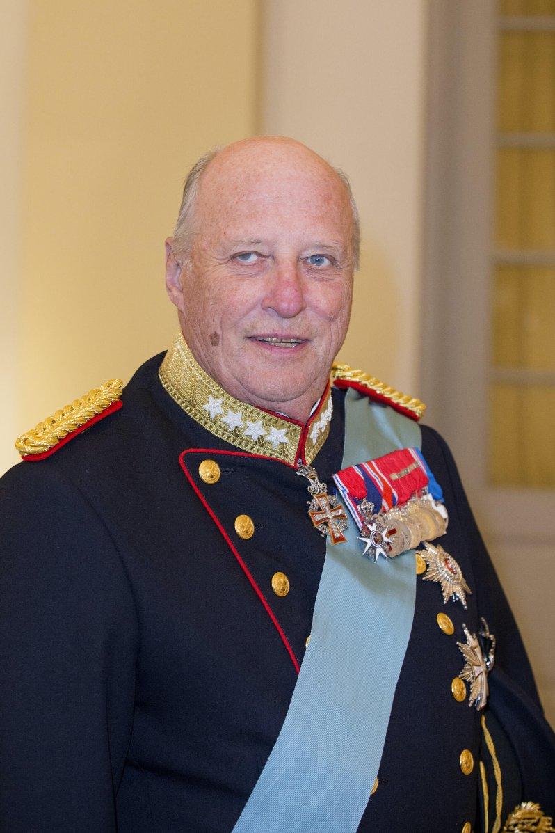So ernst wie König Harald von Norwegen manchmal wirkt, ist er gar nicht. Seine Sprüche sind inzwischen legendär.  © dpa