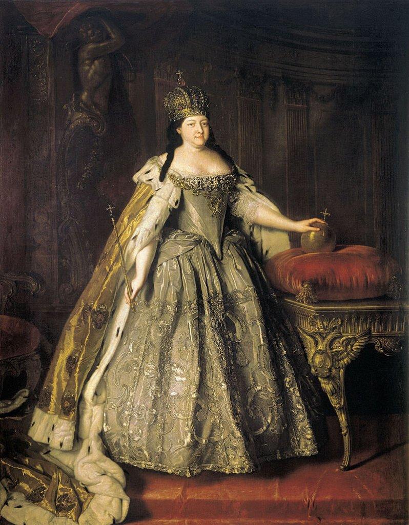 Die russische Kaiserin Anna wurde mit 17 Jahren verheiratet. Kurz nach dem Jawort starb ihr Gatte. © Gemeinfrei