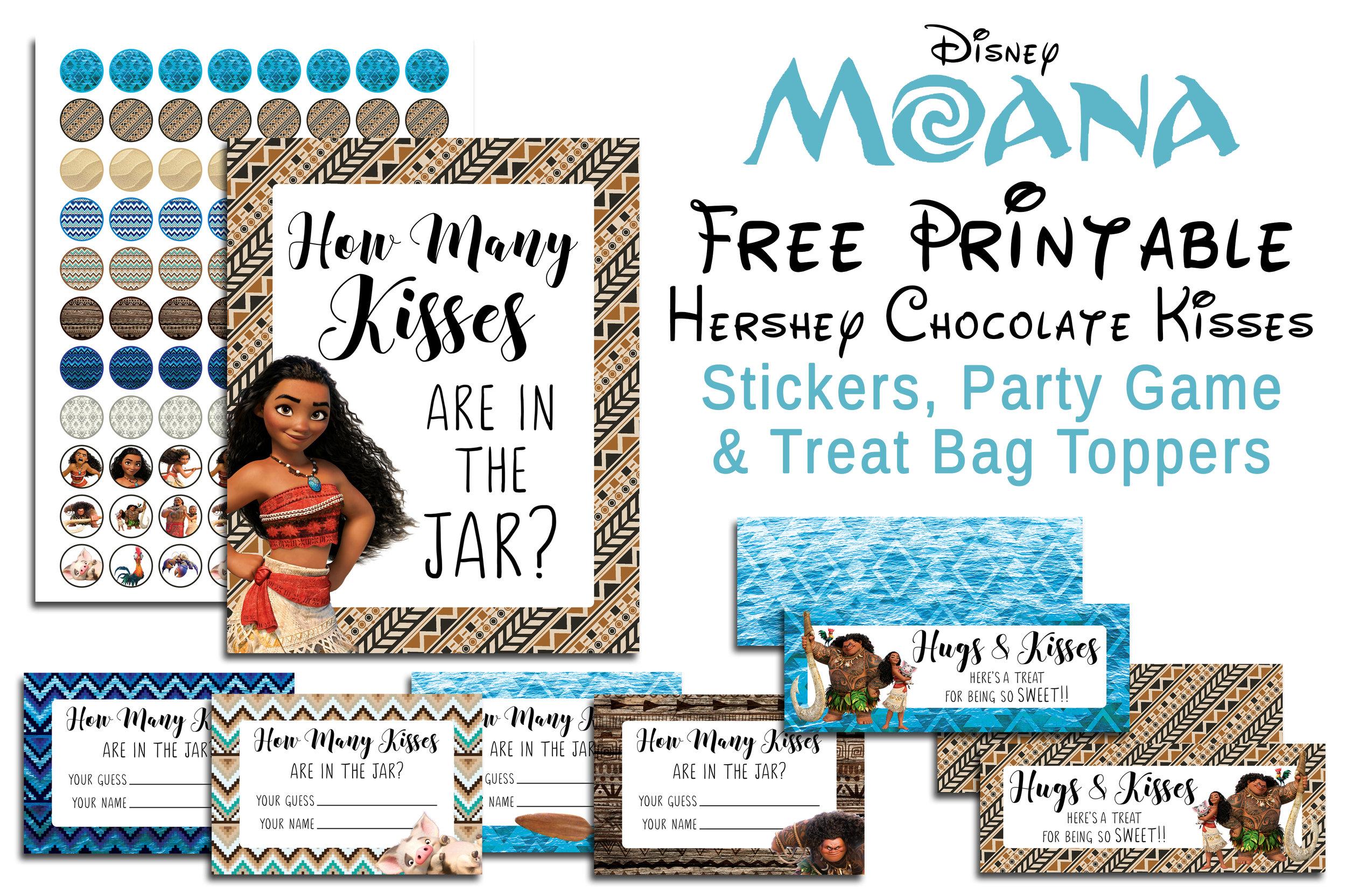 disney moana free printable hershey
