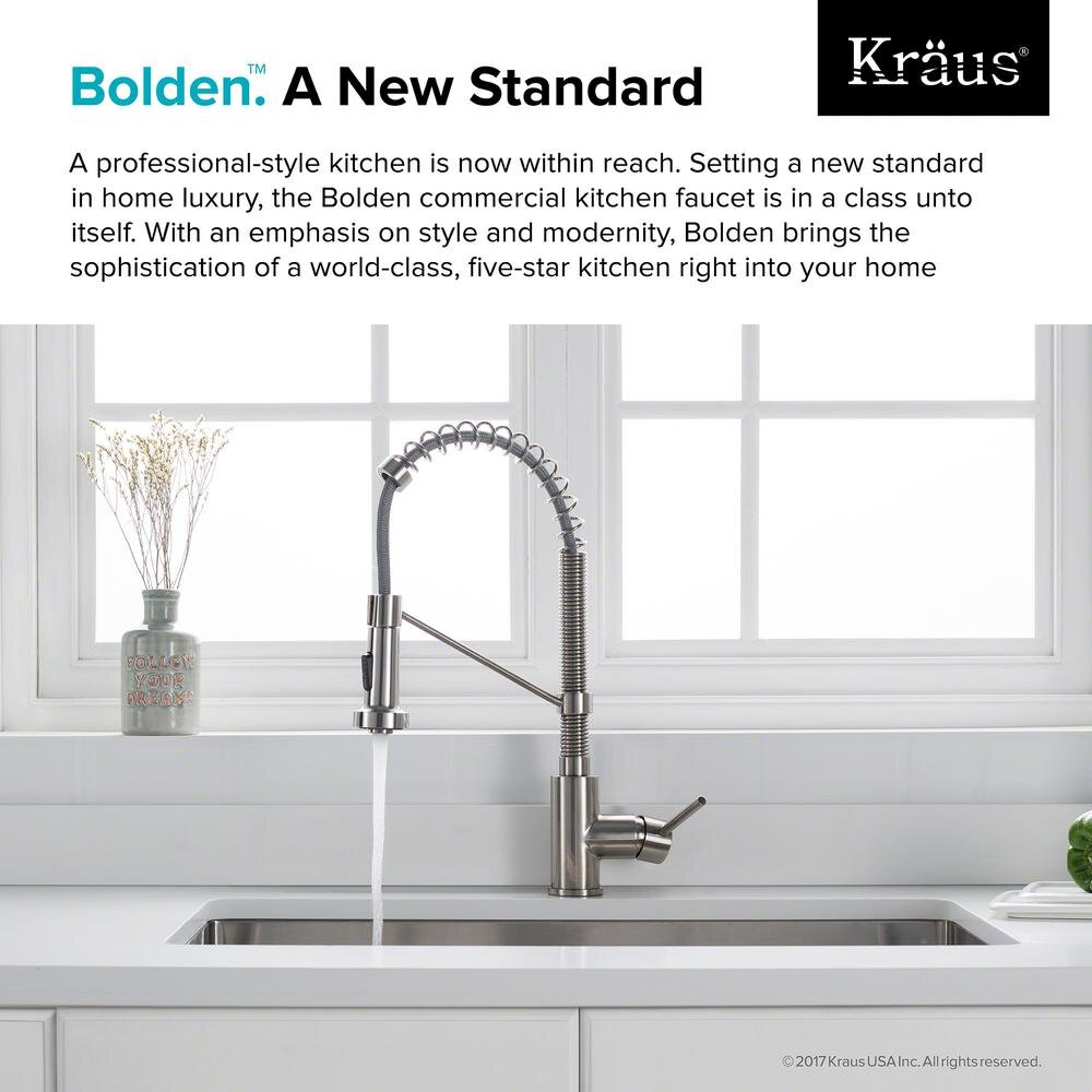 https williamsburgplumber com new products kraus bolden single handle pull down sprayer kitchen faucet with dual function sprayhead in stainless steel