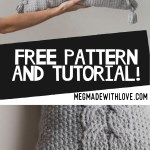 Free Crochet Pattern For The Cabled Throw Pillow Megmade With Love