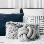 Grey Knot Cushion Lydia Maskiell Interiors
