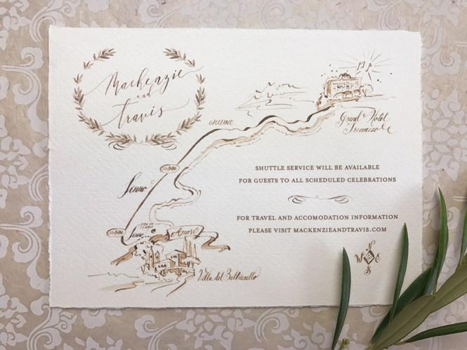 Villa Del Balbianello Wedding Paper Melange