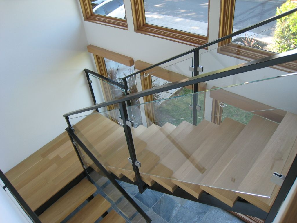 Glass Railing Systems — Orange Mirror And Glass | Glass Stair Railing Systems | Iron | Custom | Contemporary | Baluster | Design