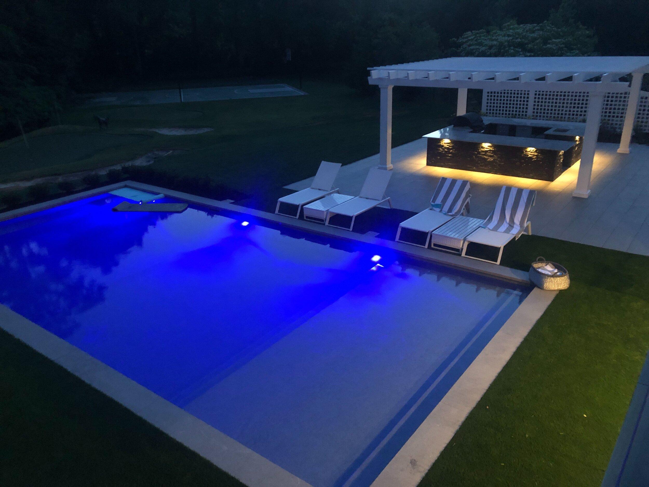 pool installation landscape