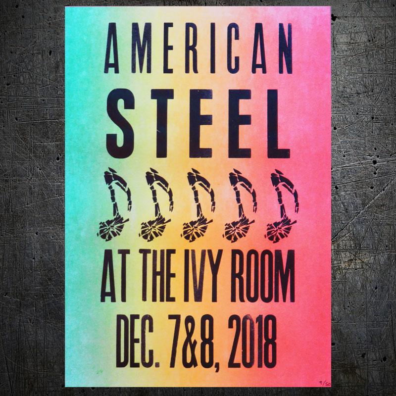 american steel letterpress show poster volta press