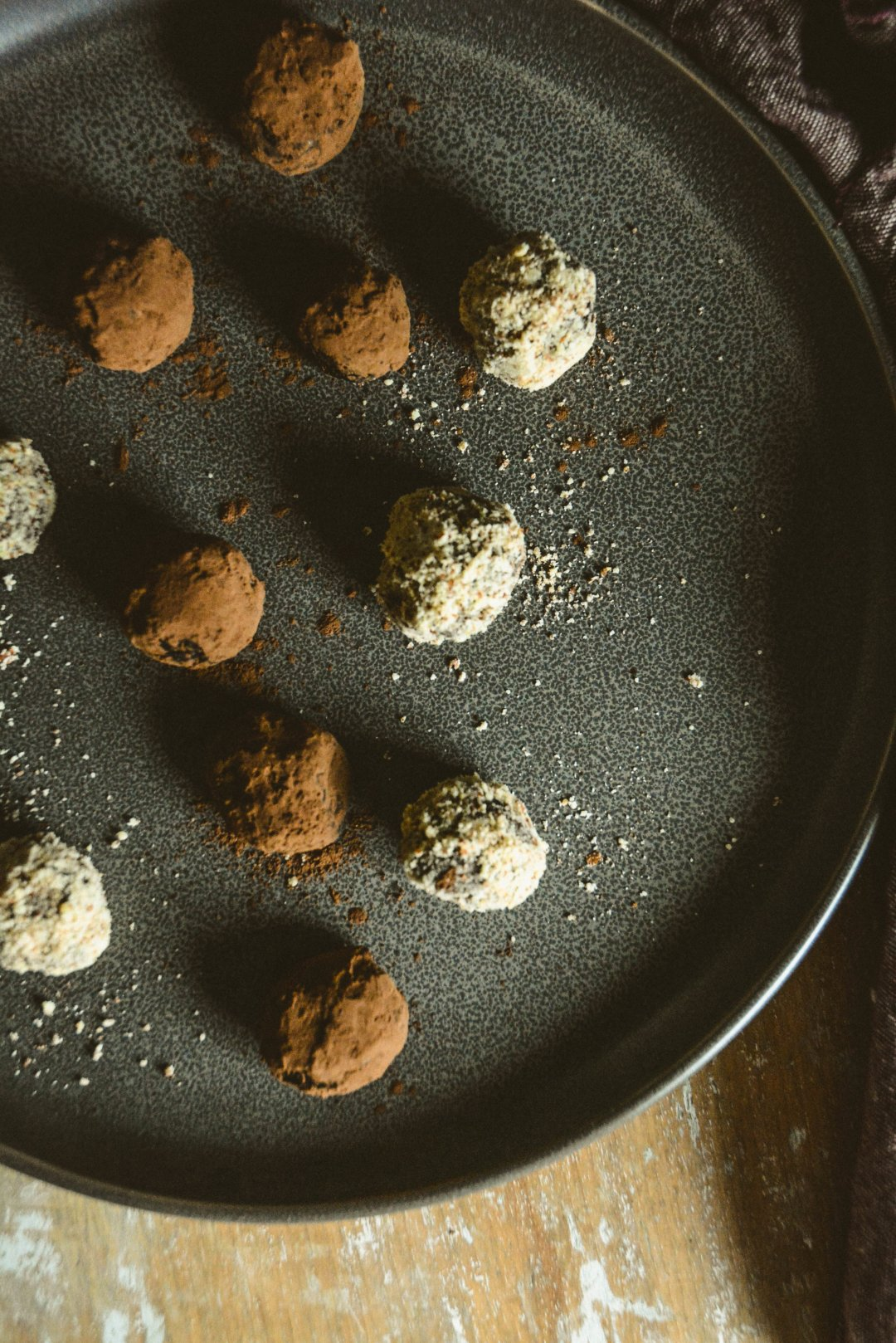 paleo almond crusted chocolate truffles