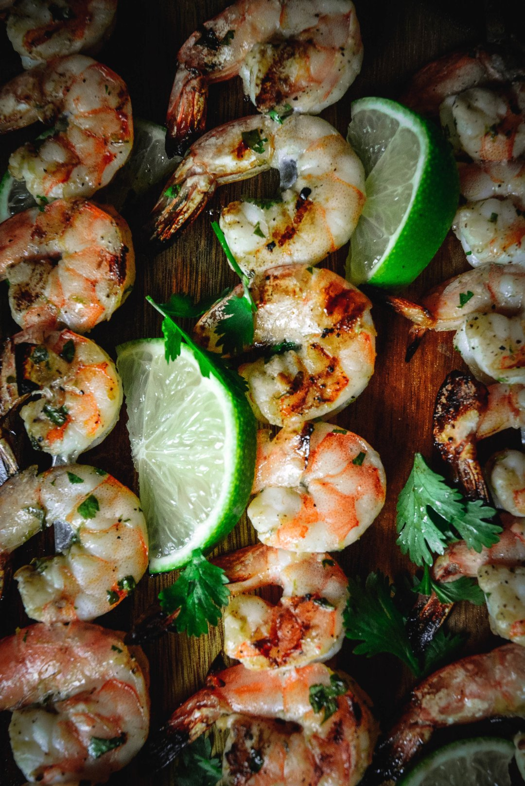 hone lime grilled shrimp with pineapple