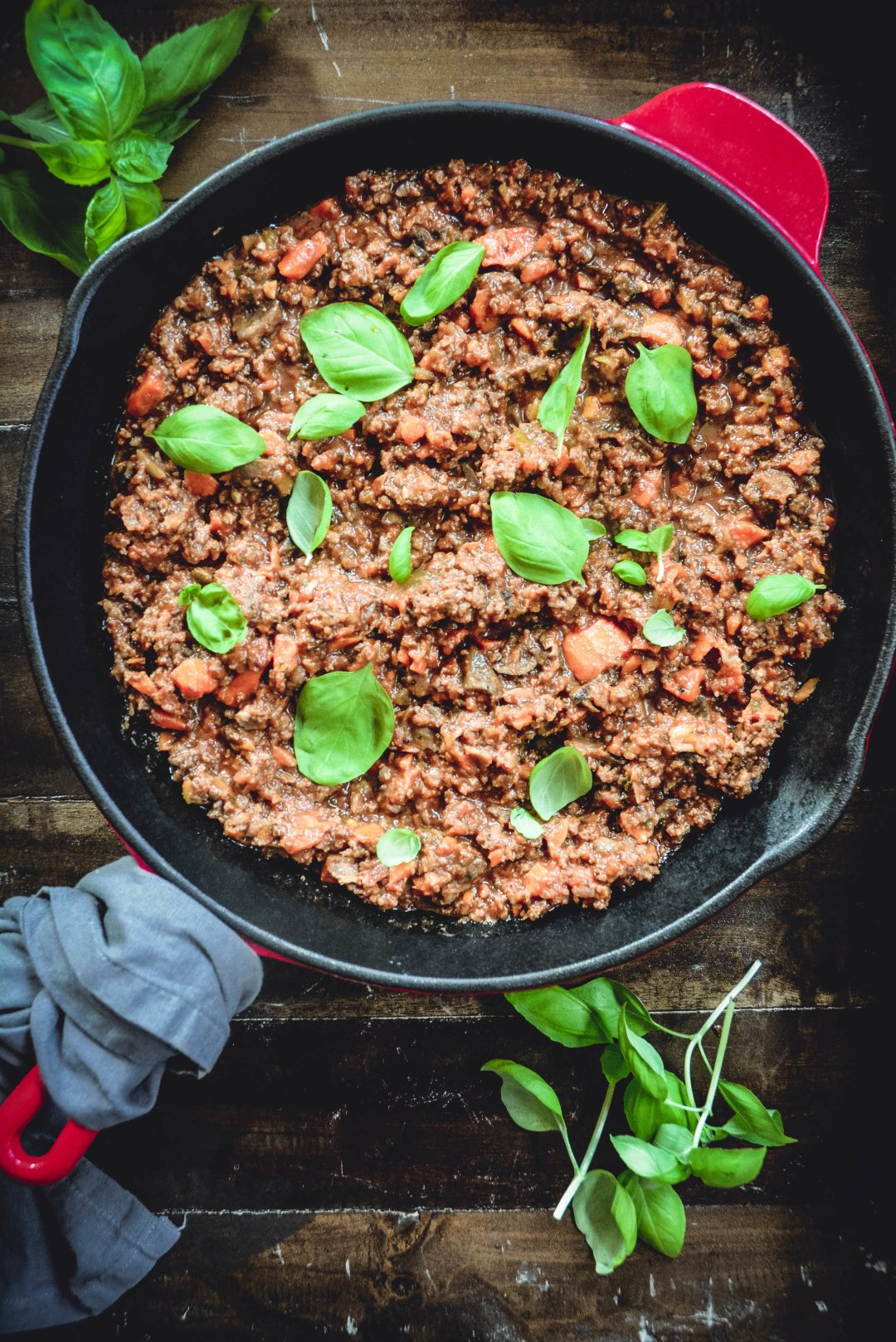 Want the ultimate comfort food? Bolognese sauce does it for me and I think you'll agree! With a few shortcuts this sauce can be ready in 45 minutes. It's loaded with vegetables, when served over zucchini noodles, it's low carb, paleo and whole 30. Check it out! #bolognesesauce, #bolognese, #paleo, #whole30, #meatsauce, #realfood, #calmeats, #lowcarb, #keto, #dairyfree, #glutenfree, #zucchininoodles, #zoodles