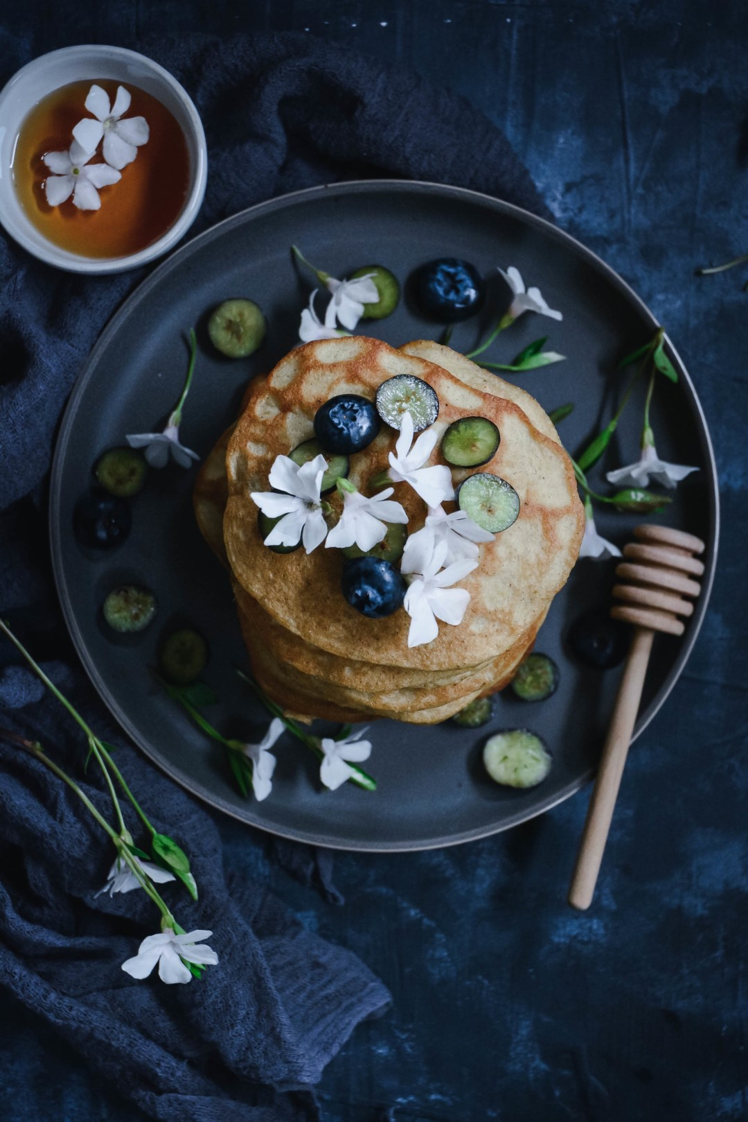 If you want to take your paleo pancakes to a new level, try adding cardamom and orange blossom water to them! The combination is incredibly flavorful, creating a delicious unexpected pancake. Try it for yourself! #paleopancakes #paleobreakfast #paleo #glutenfreepancakes #grainfreepancakes #glutenfreebreakfast #glutenfree #grainfreepancakes #grainfree #vegetarian #breakfast #brunch #orangeblossomwater #orangeflowerwater #calmeats