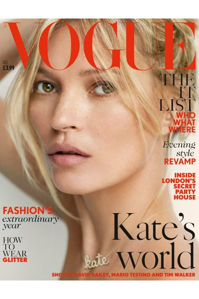 Charlotte Tilbury adds to Kate's freckles for this Vogue cover. Image via Vogue.