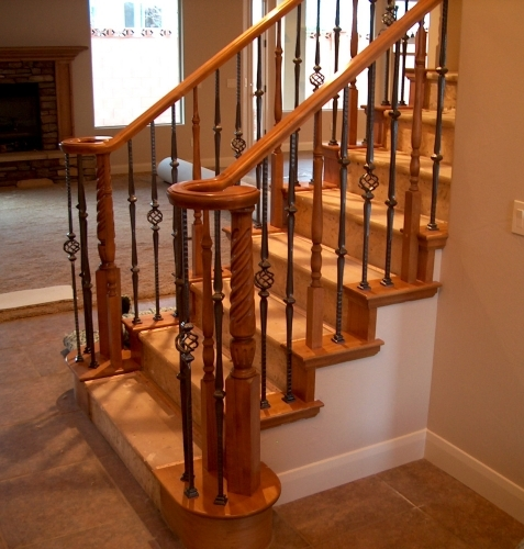 Wood Iron Baluster Combinations — Titan Architectural Products | Wood And Metal Banister | Modern | Rustic | Stainless Steel | Design | Aluminum