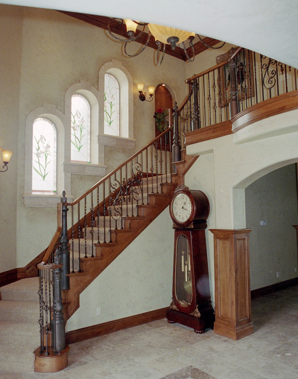 Wood Iron Baluster Combinations — Titan Architectural Products | Wrought Iron Baluster Designs | Rot Iron Staircase | Rod Iron | Metal Rail | Stair Railing | Replacement