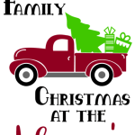 Personalized Old Fashioned Family Christmas Truck Paradise Paint Parties Gifts