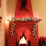 Dollar Store Vintage Christmas Fireplace Diy Crafty Lumberjacks