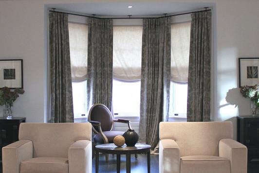 bay windows and corner curtain rods