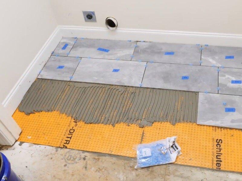 to lay tile floor