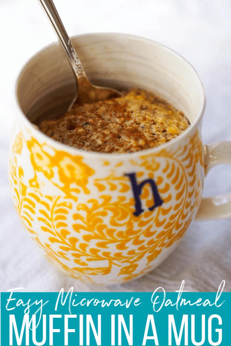 easy microwave oatmeal muffin in a mug
