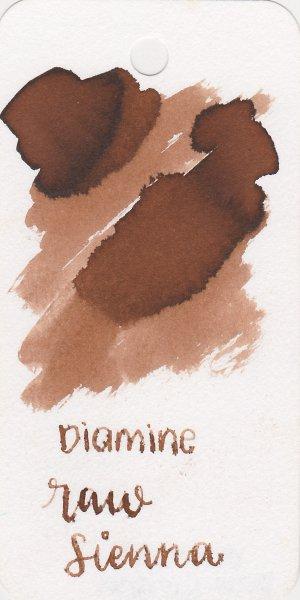 Best brown fountain pen inks - Diamine Raw Sienna