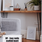 Diy Easy Rustic Scaffold Board Console Table Or A Bench Style Squeeze