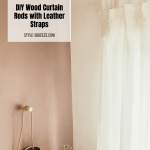 Diy Wooden Curtain Rods Pole With Leather Straps Style Squeeze