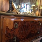Sale Elegant Inlaid Wood Marble Top Antique Dresser Lola S Menagerie