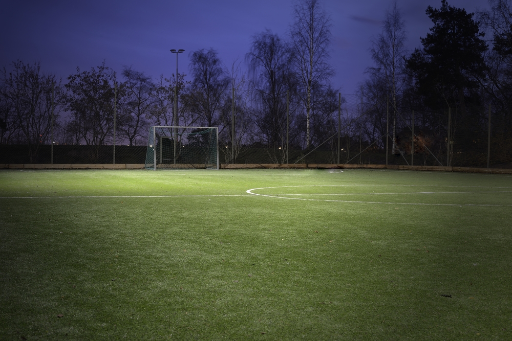 temporary sports lighting the beacon