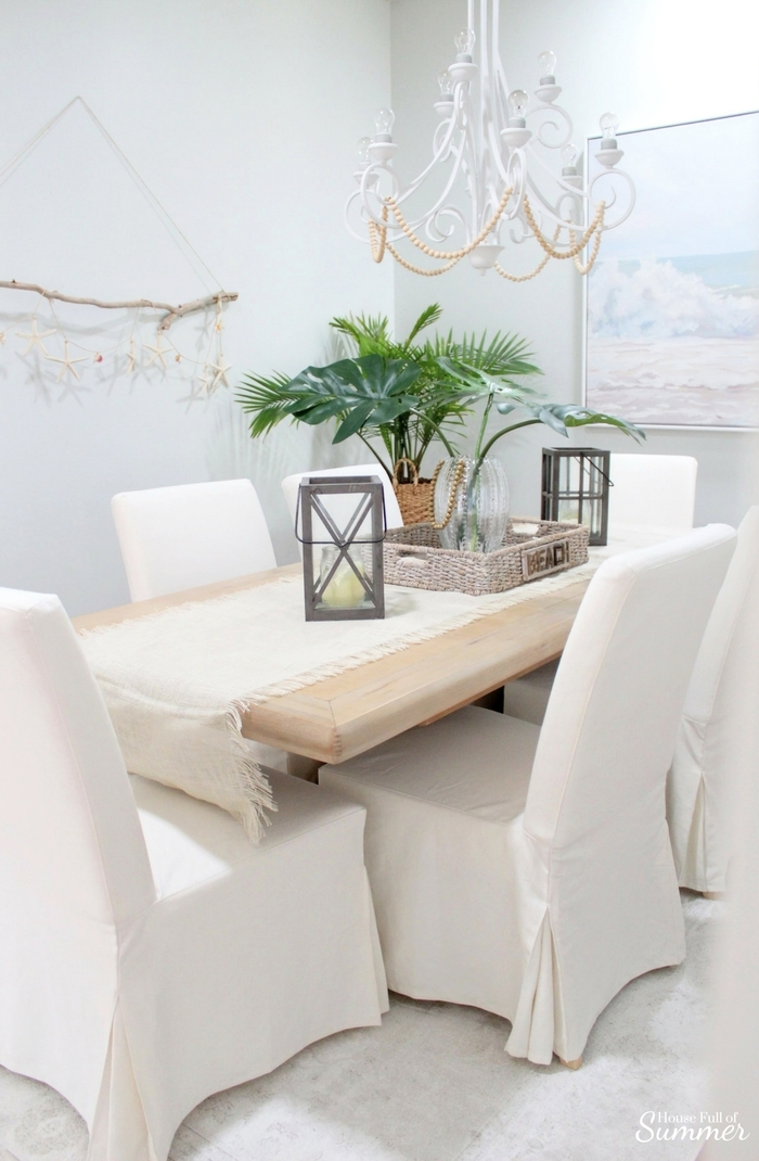 Why I Love My White Slipcovered Dining Chairs House Full Of Summer Coastal Home Lifestyle