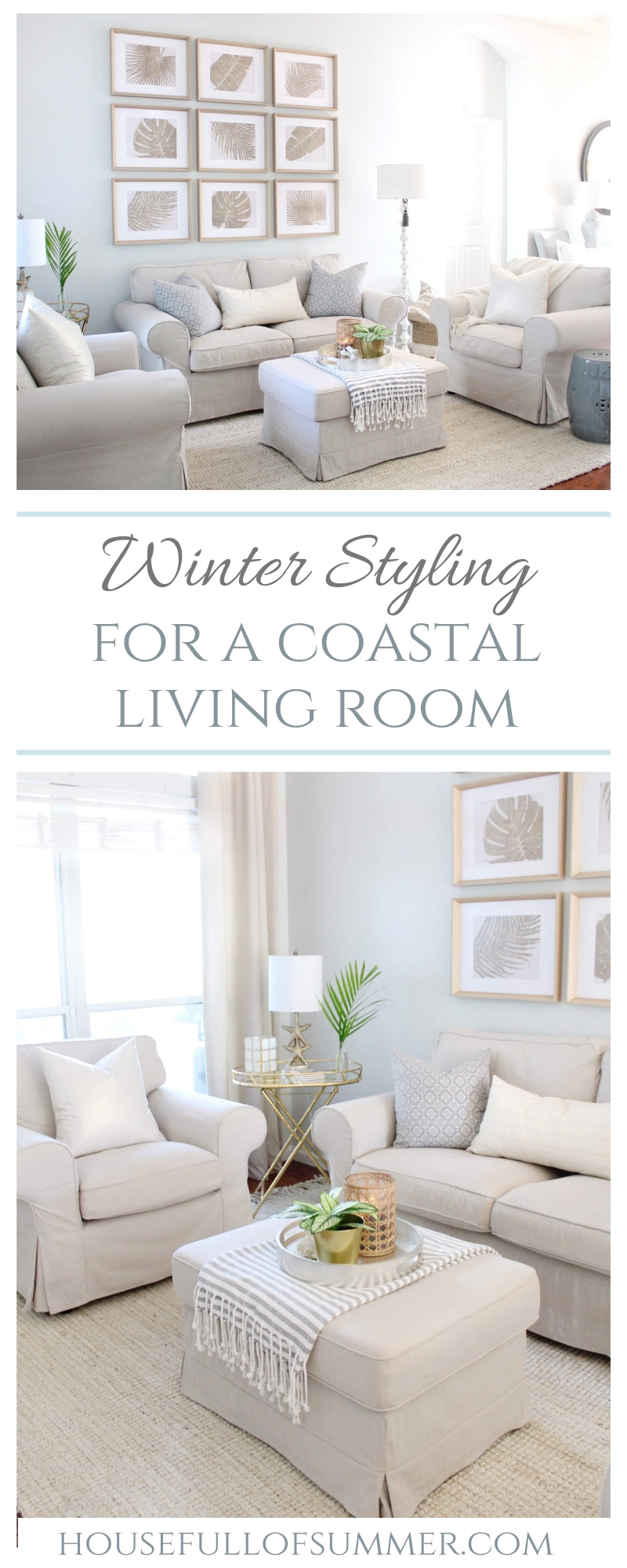 styling my coastal living room for