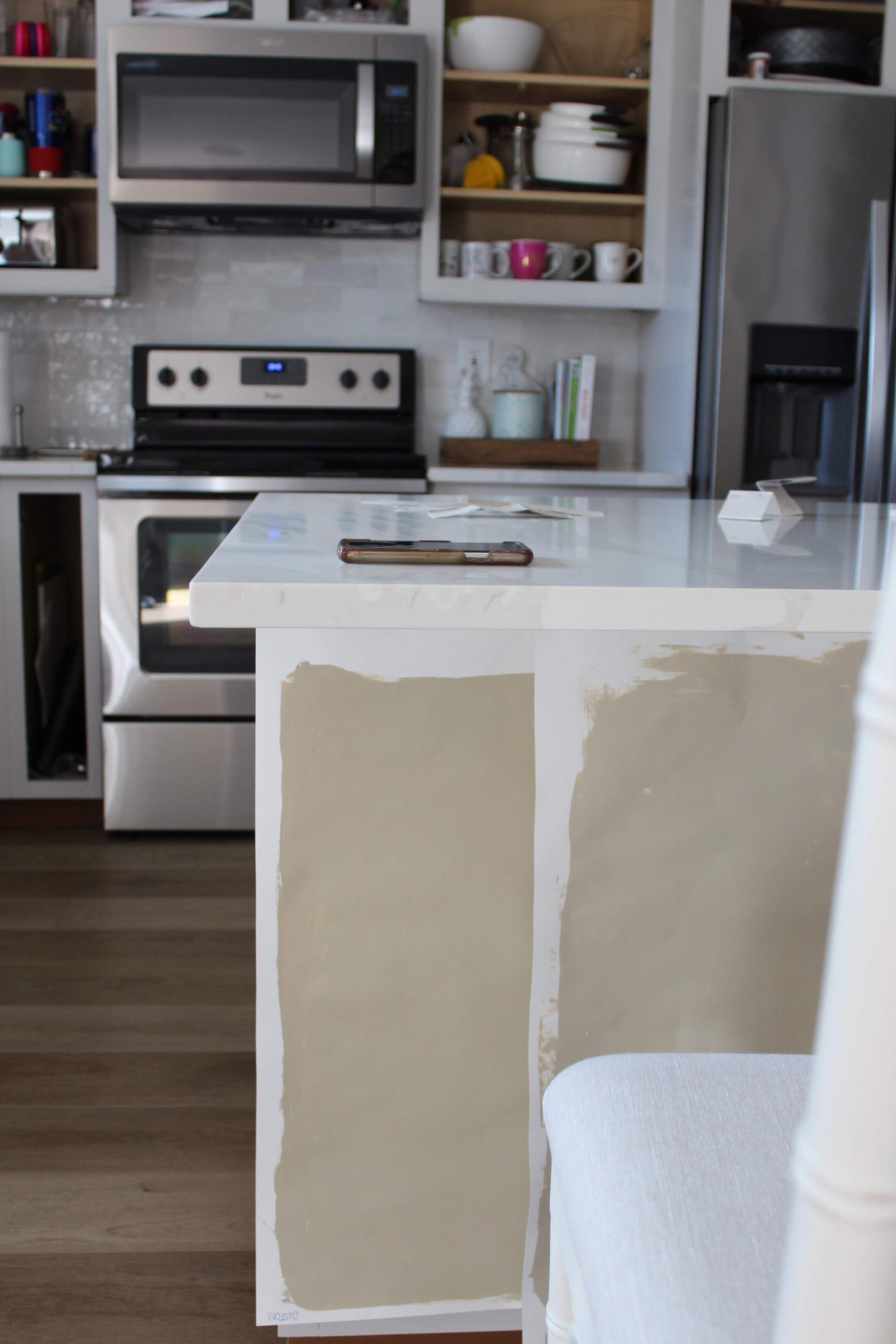 kitchen cabinet paint color reveal