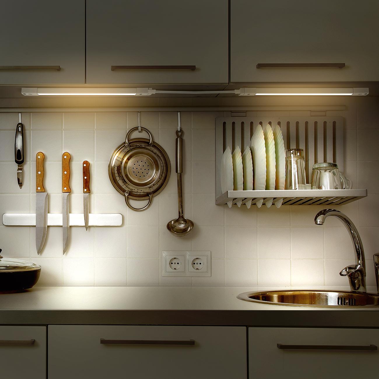 led concepts under cabinet light bar 3 dimming levels ultra slim linkable plug in led light great for kitchen closet vanity bathroom task