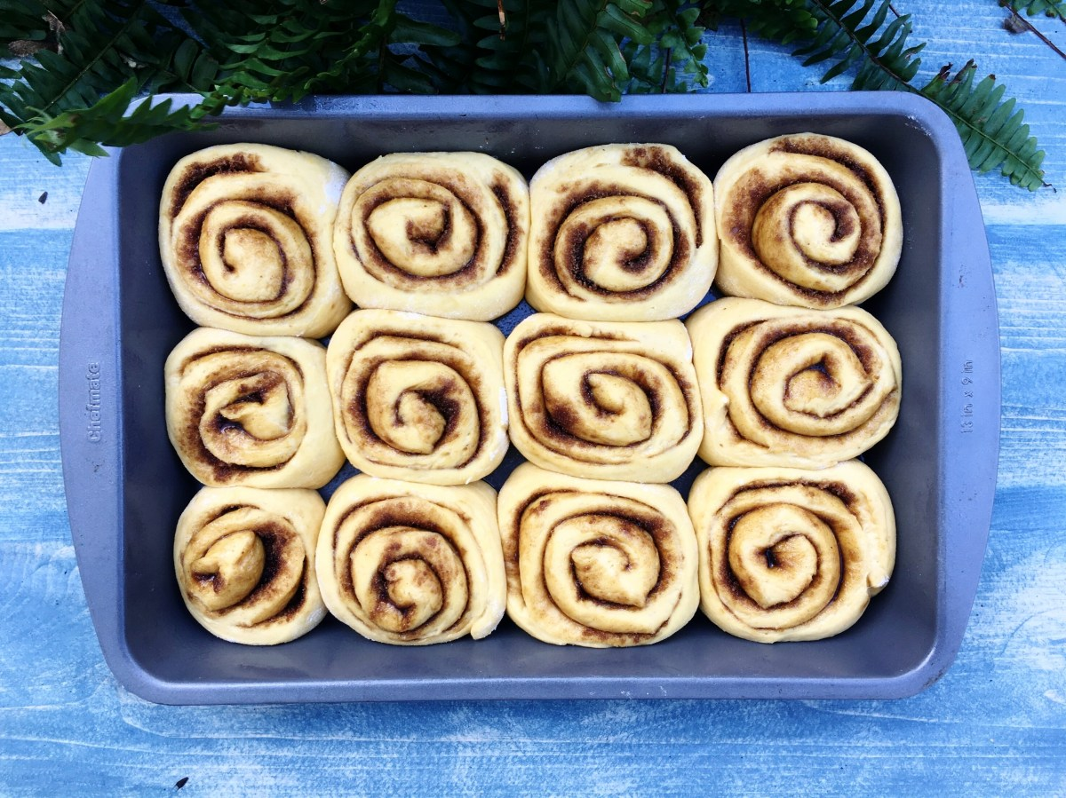 This is what the rolls should look like just before you put them into the oven.