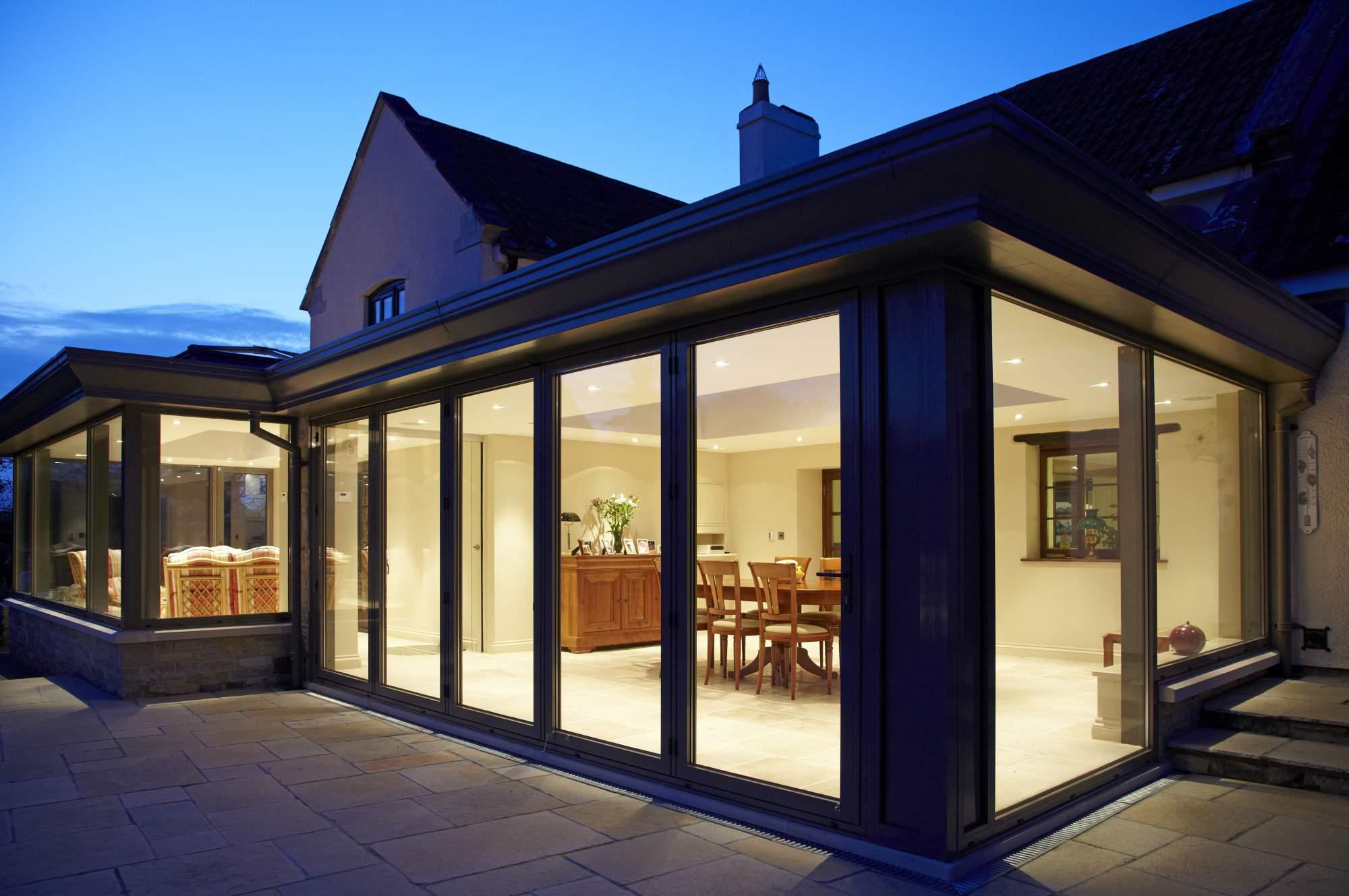 smart privacy glass folding doors