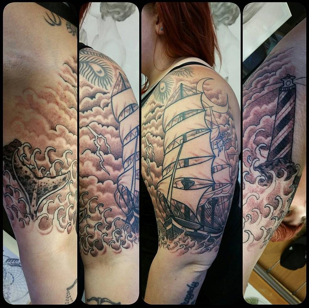 Curtis Stairs Blue Geisha Tattoo