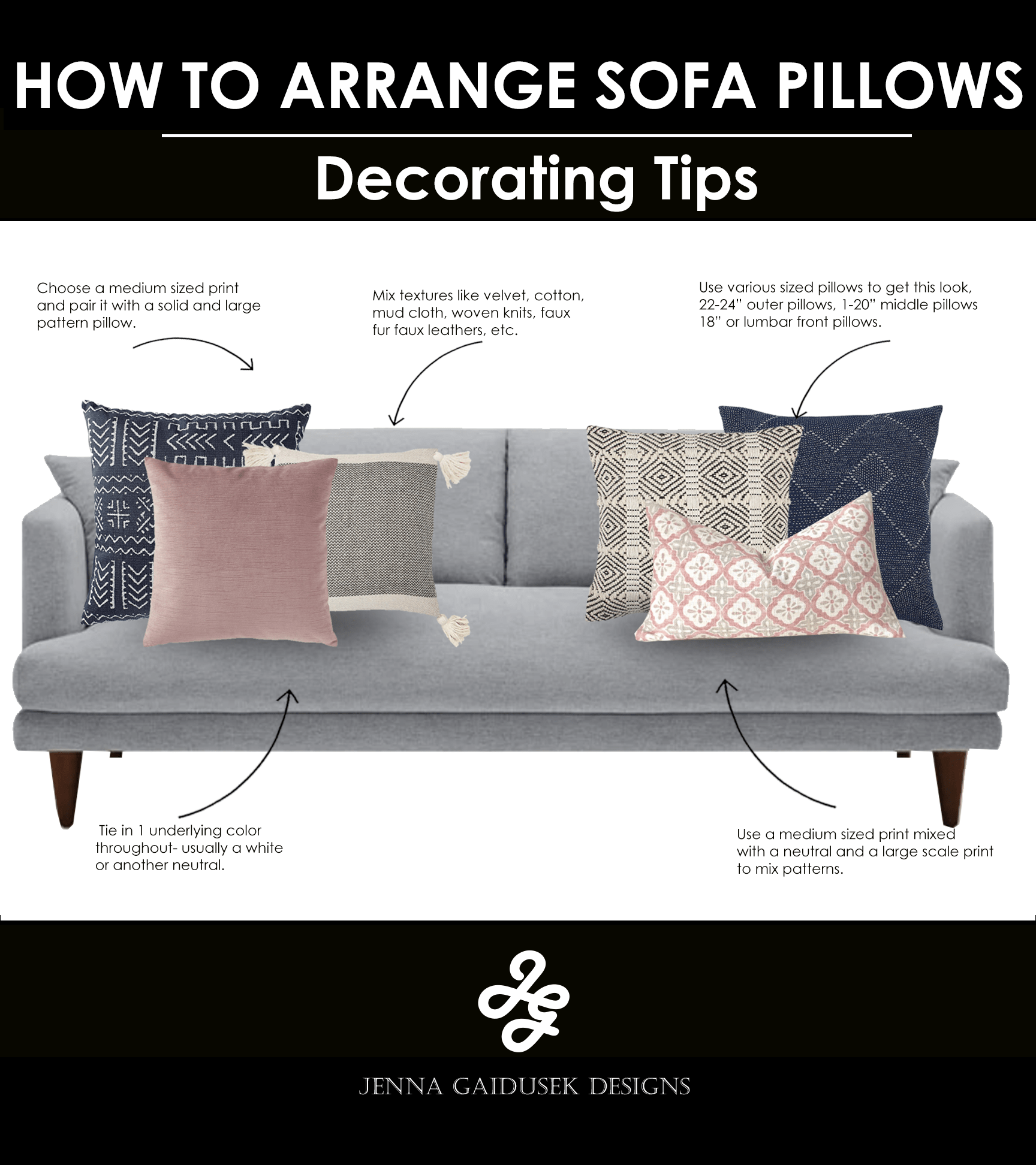how to style your sofa pillows jenna