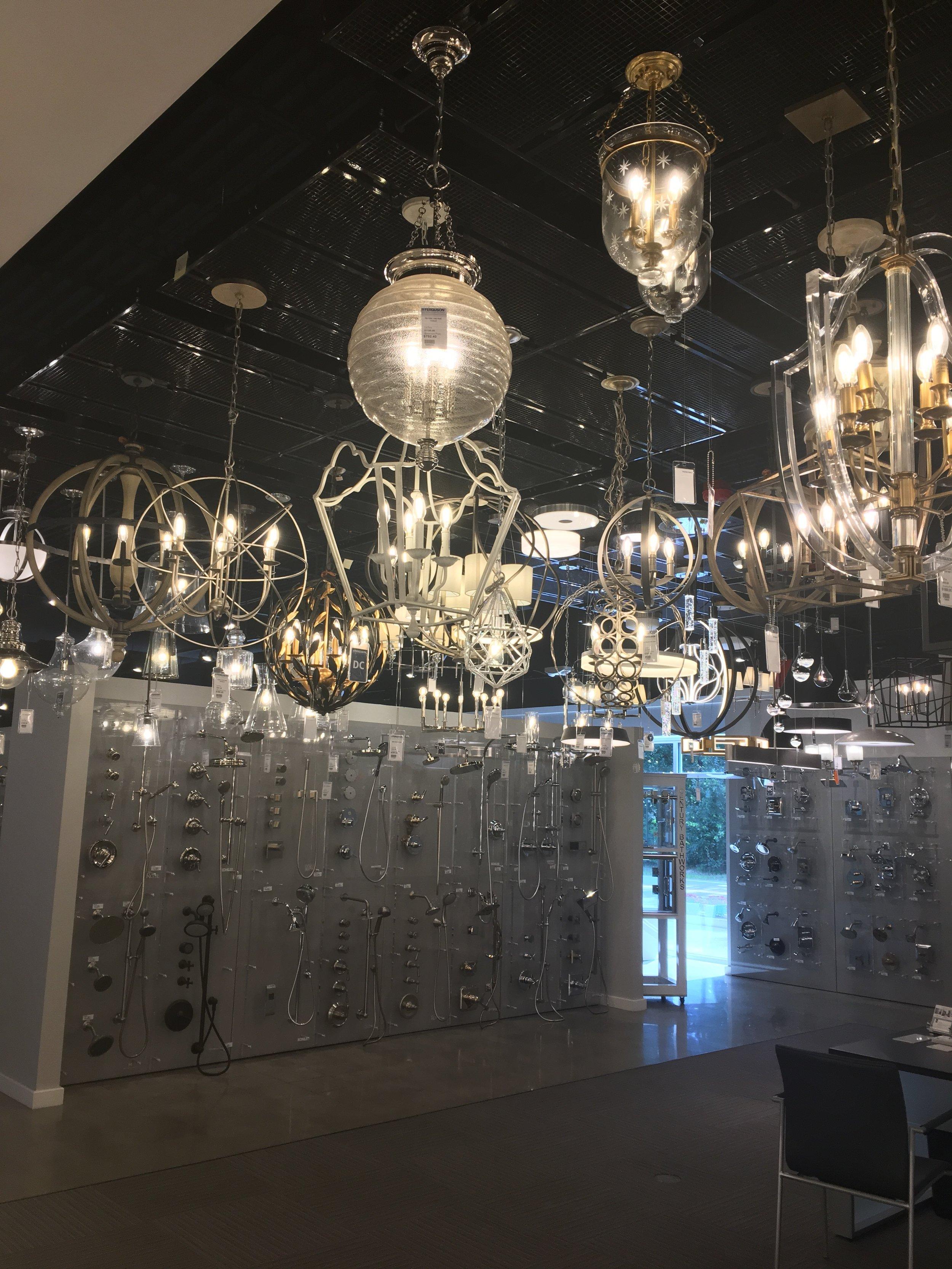 plumbing and lighting showroom visit