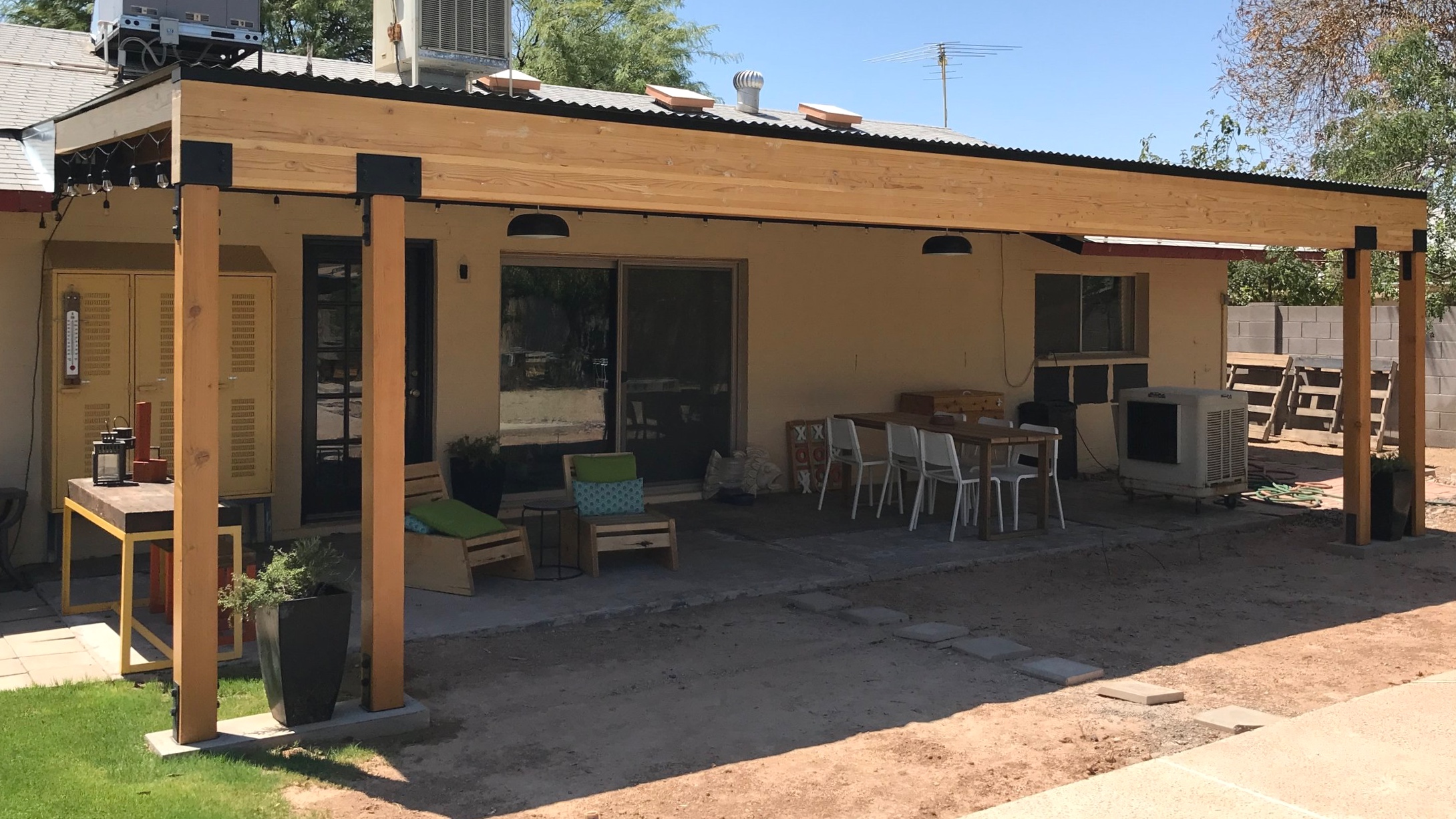 building a covered patio with a 30ft