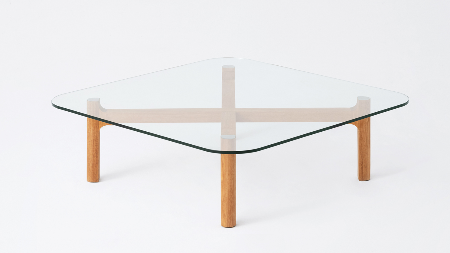 place glass wood square coffee table m collection home