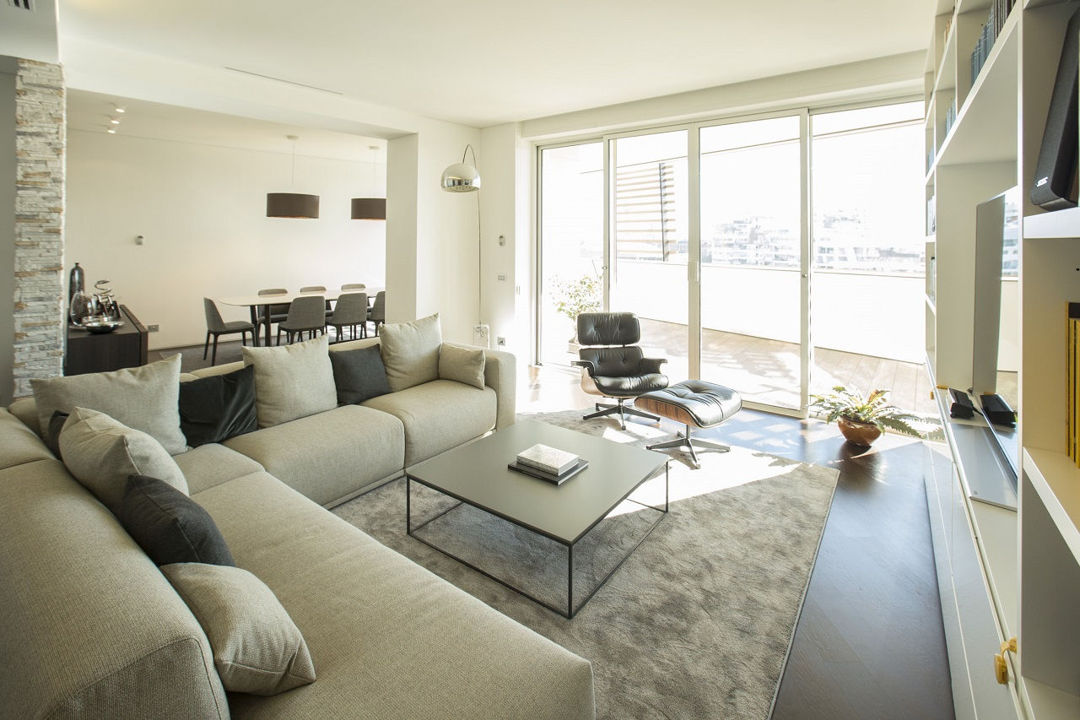 Designed for an entrepreneur couple who wanted their home to reflect their love of art, this penthouse apartment in the lombardy plains offers a spectacular. Eng Apartment In Citylife District Milan Italy Massimo Magaldi Architetto