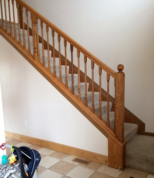 Diy Stair Makeover Carpet To Hardwood — Schooley Caldwell | Carpet Risers For Stairs | Hardwood Floors | Staircase Makeover | Hardwood | Open Riser | Stair Railing