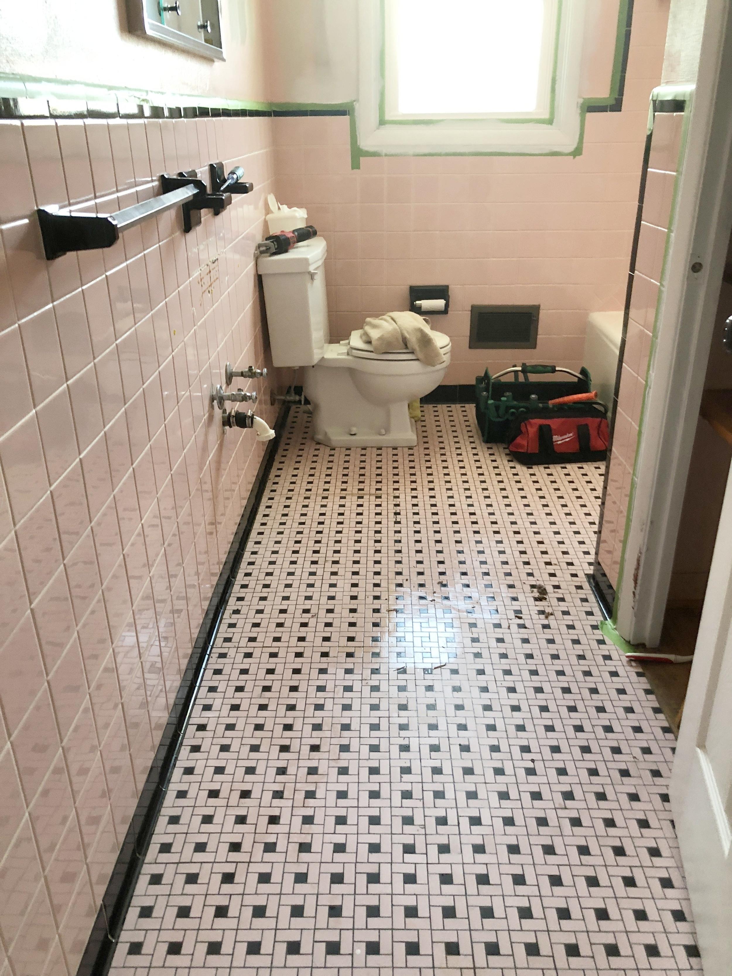 pink tile bathroom refresh t moore