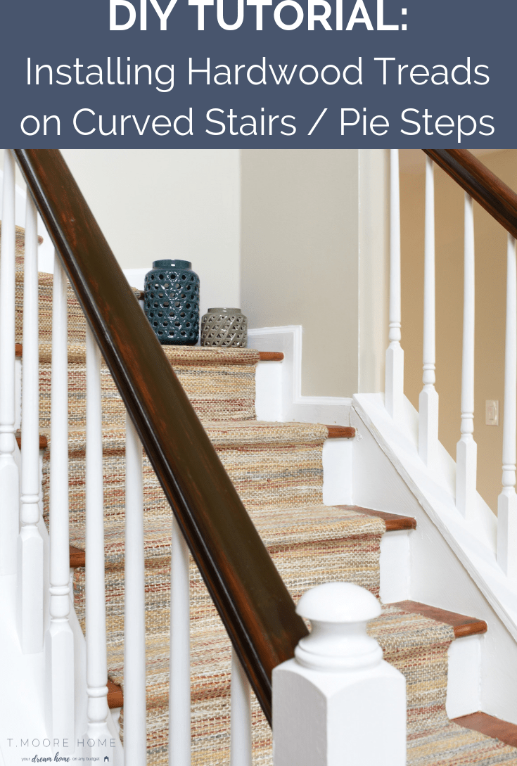 Diy Hardwood Staircase Makeover Replacing Carpet With Wood Treads | Redoing Carpeted Stairs To Wood | Hardwood Floors | Stair Tread | Stair Risers | Stair Case | Staircase Remodel