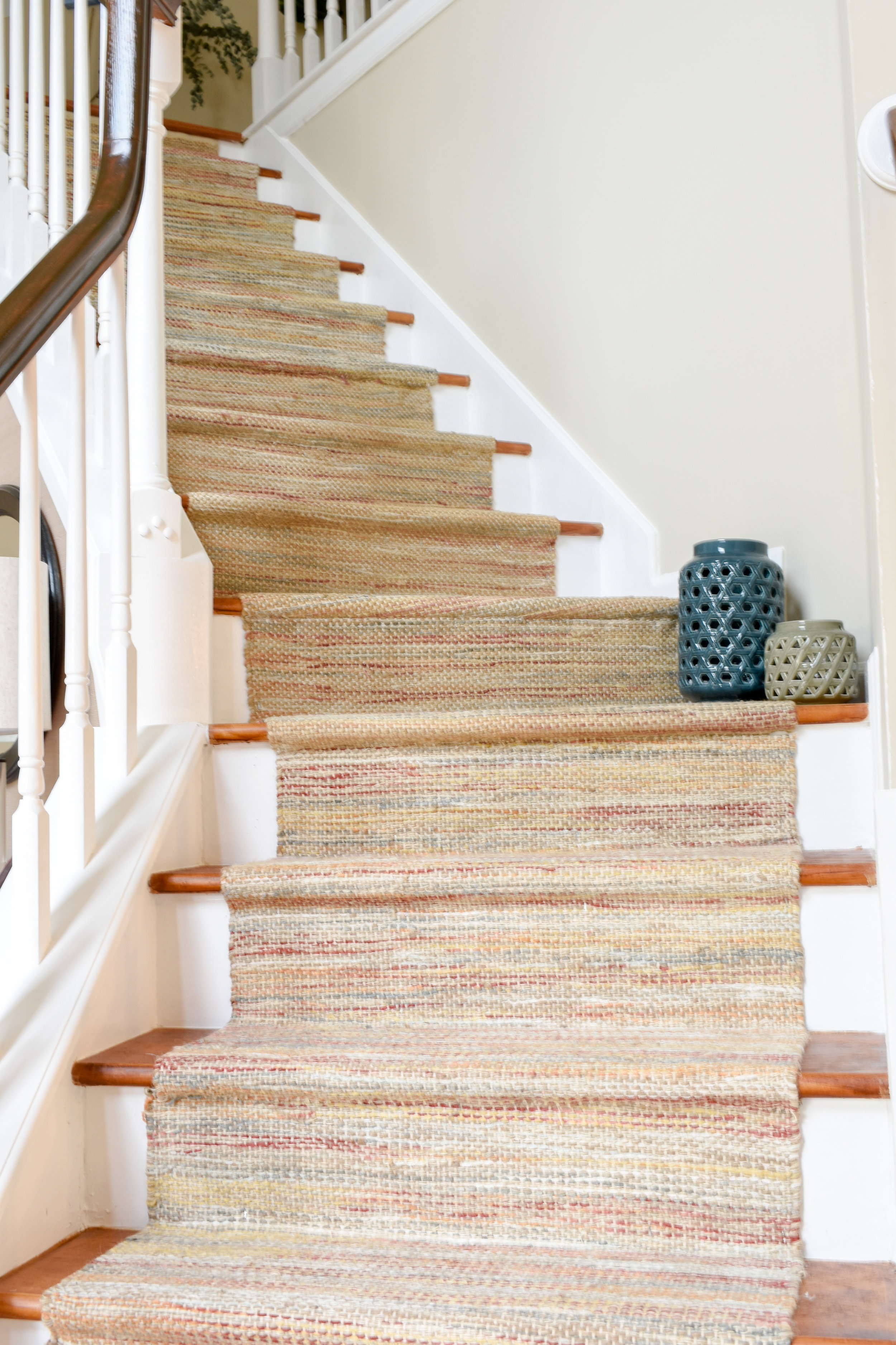 Diy Hardwood Staircase Makeover Replacing Carpet With Wood Treads | Cost Of Carpet For Stairs And Landing | Sisal Stair Runner | Handrail | Wood | Carpet Runner | Hardwood