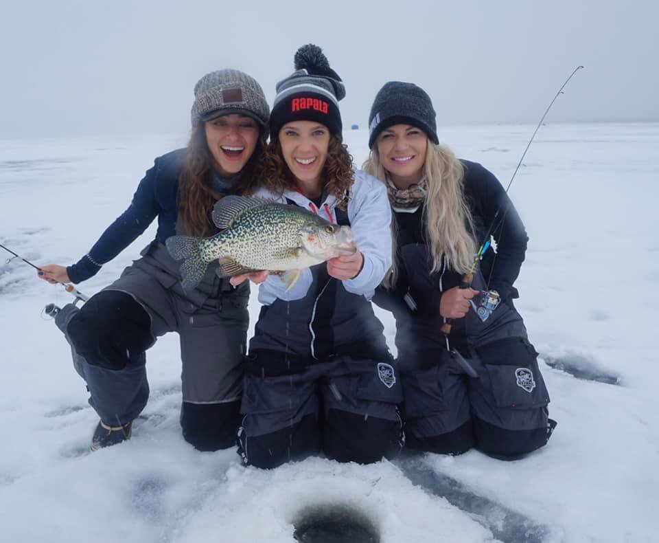 Nicole Stone Outdoors, Ana on Ice, and Nattie Up North on Upper Red Lake